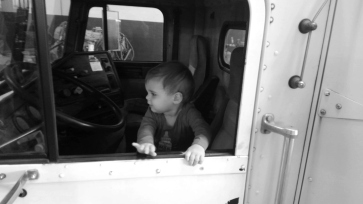 The love of trucks starts young