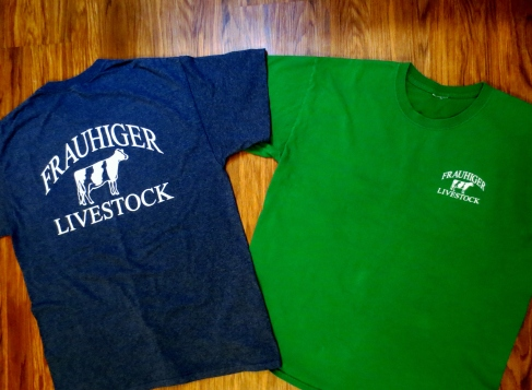 Frauhiger Livestock shirts, front and back