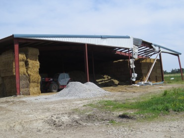 Straw shed